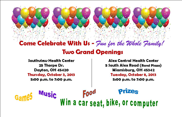2 Grand Openings - new CHCGD Centers